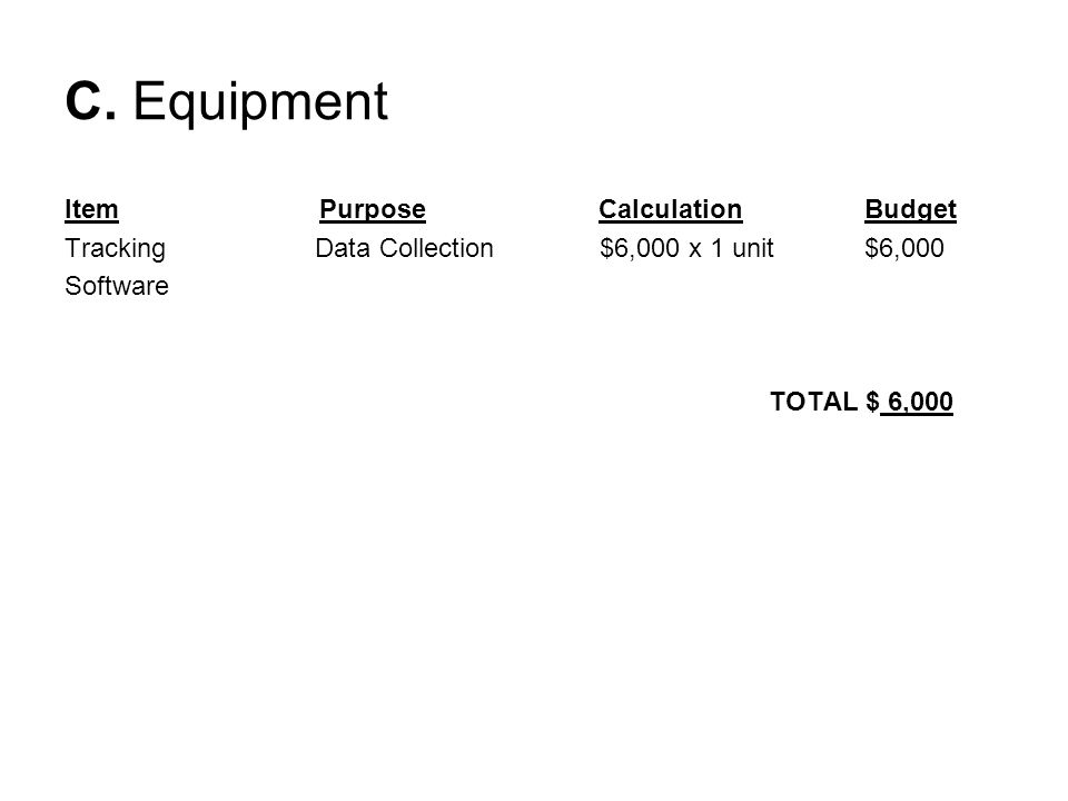 SUPPLIES Description of expense Office supplies – listed in budget detail Postage All equipment under $5,000 Receipts for expenses must be maintained at your agency