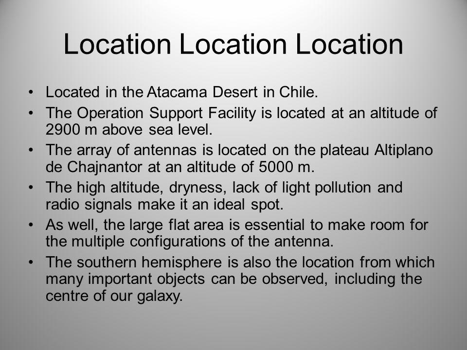Location Location Location Located in the Atacama Desert in Chile.