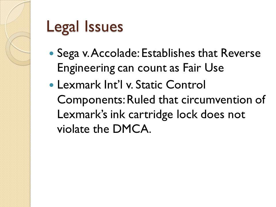 Legal Issues Sega v.