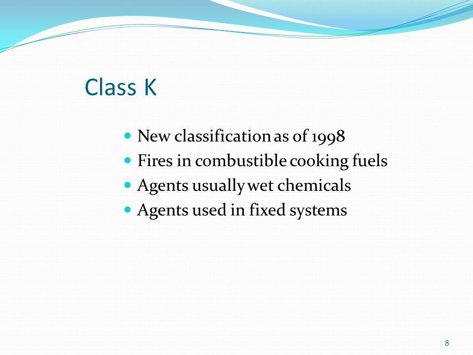 Class K equipment. 9