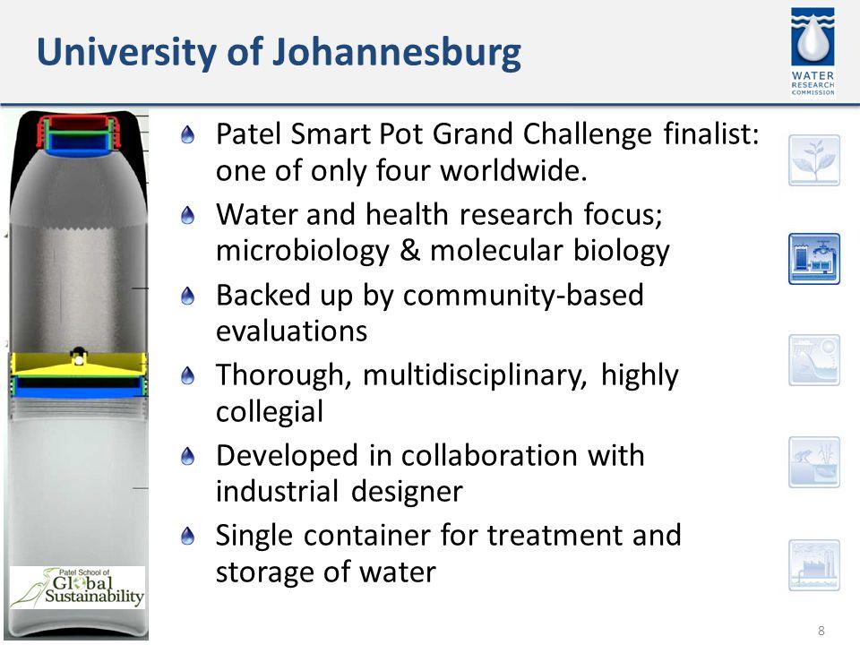 University of Johannesburg 8 Patel Smart Pot Grand Challenge finalist: one of only four worldwide.