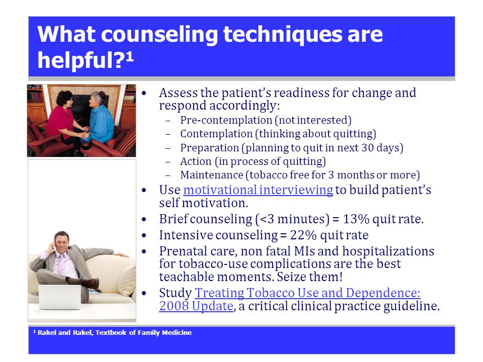 What counseling techniques are helpful.