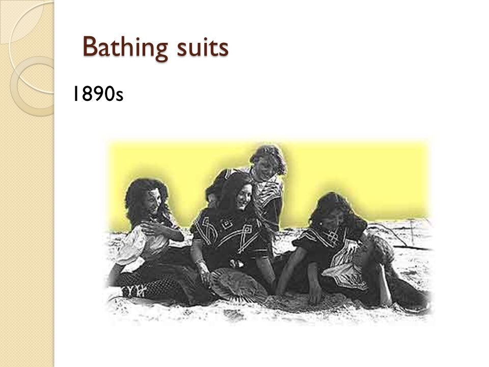 Bathing suits 1890s