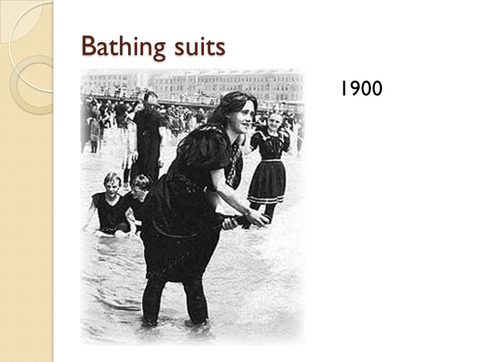 Bathing suits 1900