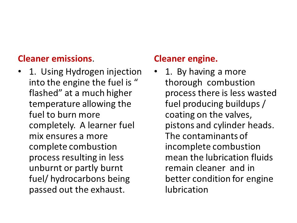 Cleaner emissions.1.