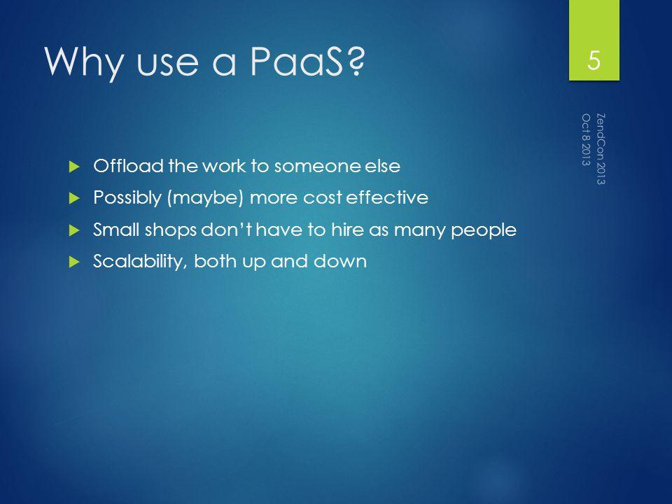 PaaS Workflow Git repo Feature Branch Run Paas Deployment Your App Runs! Oct 8 2013 ZendCon 2013 6
