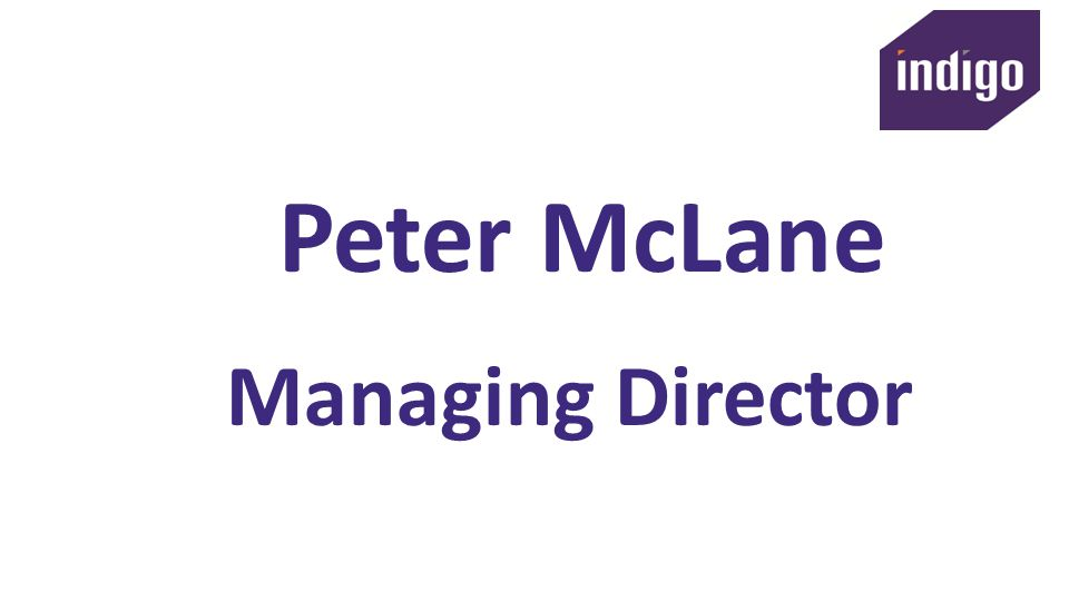 Peter McLane Managing Director