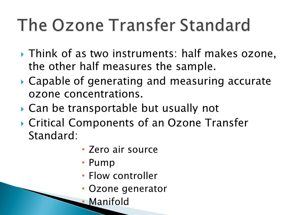 Think of as two instruments: half makes ozone, the other half measures the sample.
