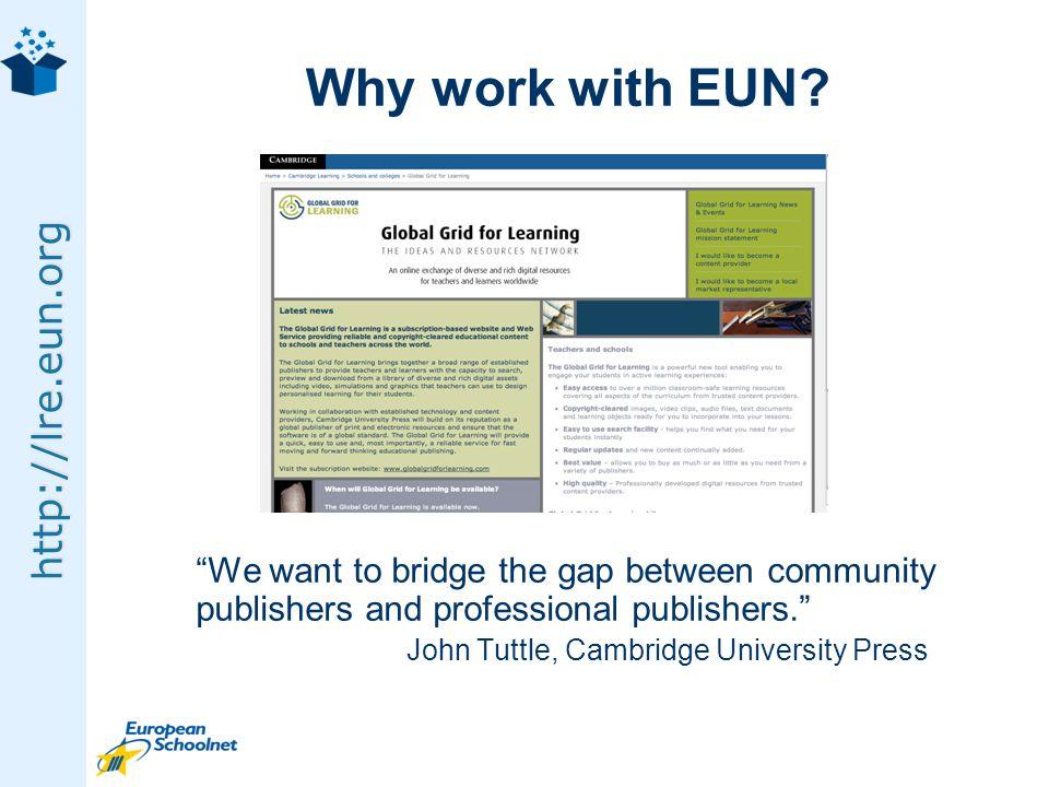 http://lre.eun.org Why work with EUN.