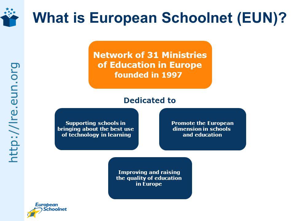 http://lre.eun.org What is European Schoolnet (EUN).