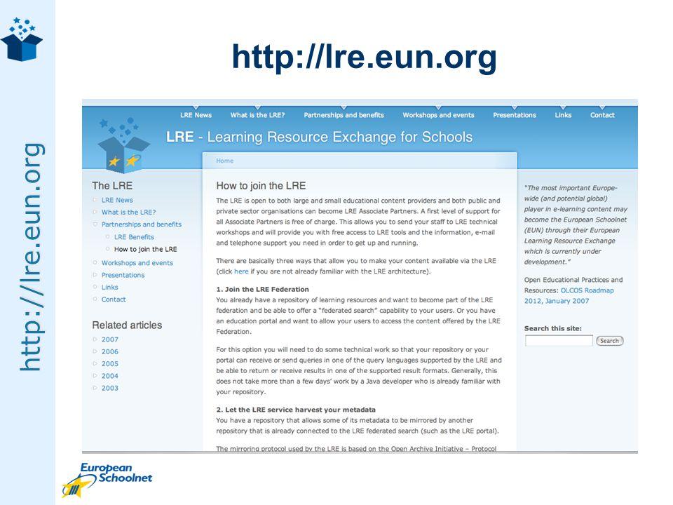http://lre.eun.org http://lre.eun.org