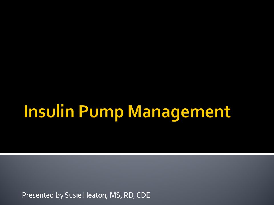Presented by Susie Heaton, MS, RD, CDE