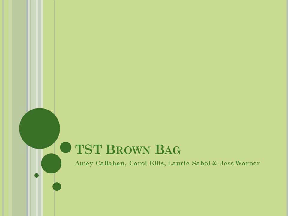 TST B ROWN B AG Amey Callahan, Carol Ellis, Laurie Sabol & Jess Warner