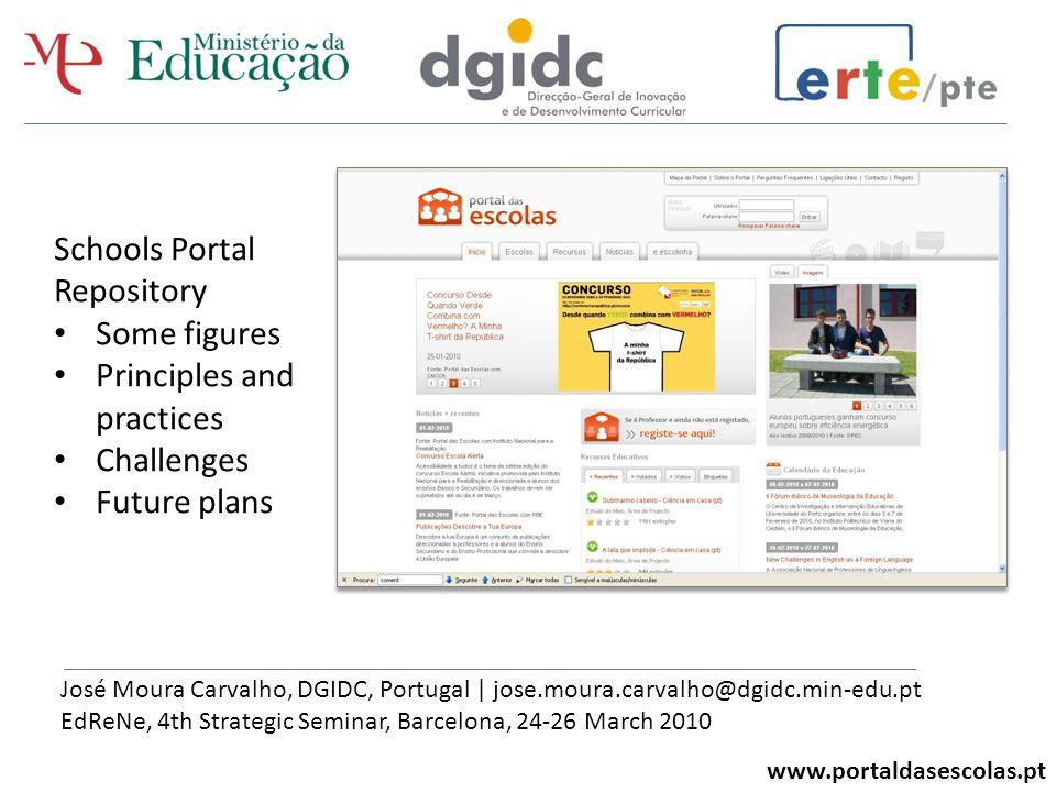 The Schools Portal - Portugal www.portaldasescolas.pt Current sections Schools Resources News e-little schools Current sections Schools Resources News e-little schools