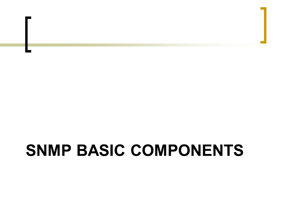 SNMP BASIC COMPONENTS