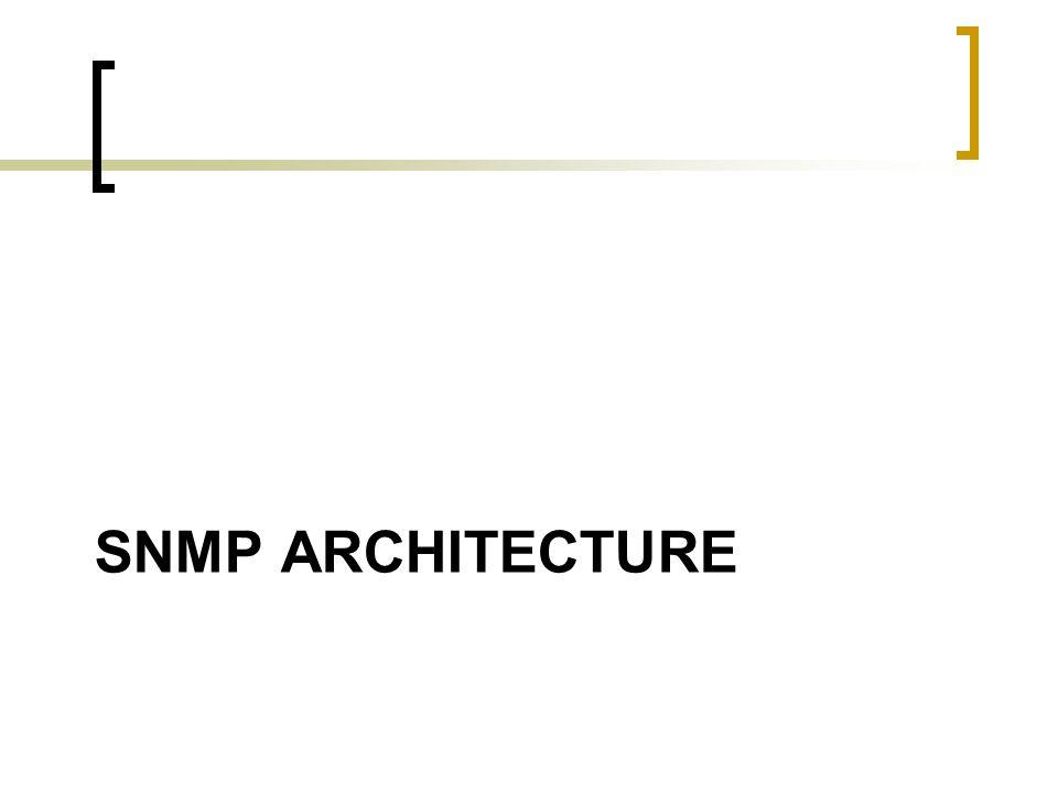 SNMP ARCHITECTURE