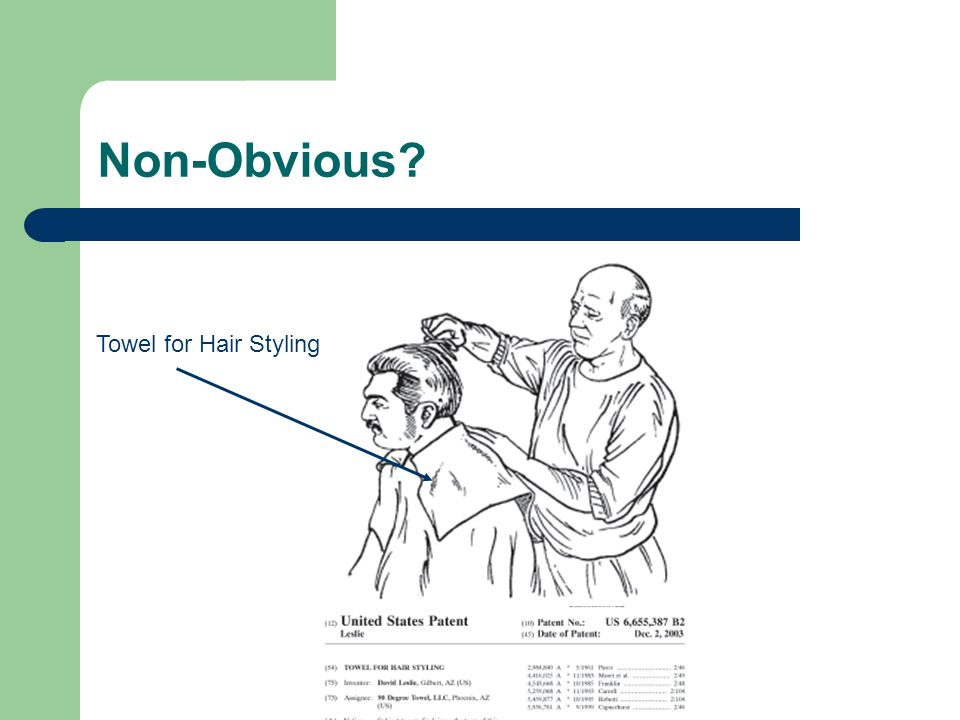 Non-Obvious? Towel for Hair Styling