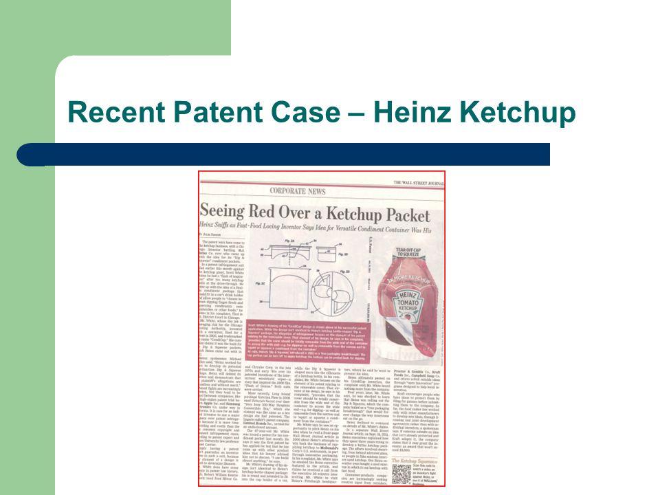 Recent Patent Case – Heinz Ketchup