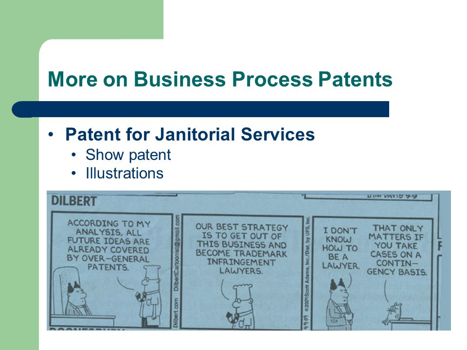 More on Business Process Patents Patent for Janitorial Services Show patent Illustrations