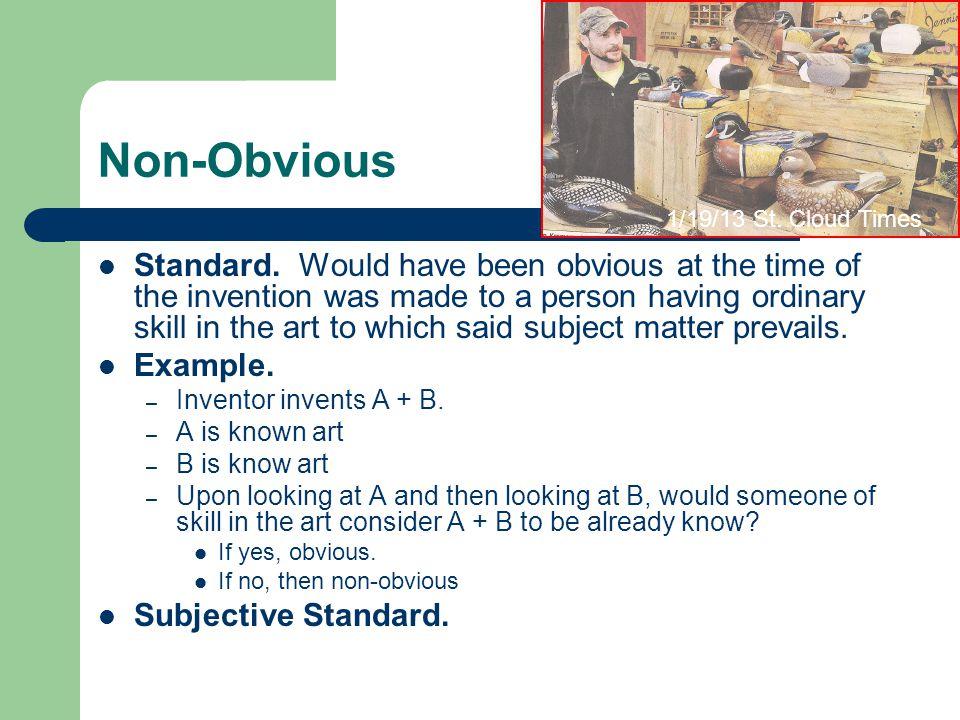 Non-Obvious Standard.