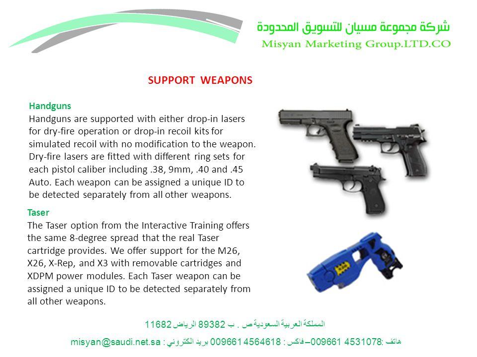 المملكة العربية السعودية ص. ب 89382 الرياض 11682 هاتف: 4531078 009661– فاكس : 4564618 009661 بريد الكتروني : misyan@saudi.net.sa Handguns Handguns are