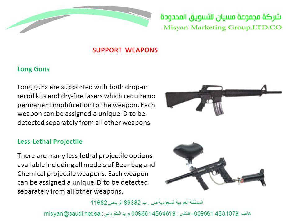 المملكة العربية السعودية ص. ب 89382 الرياض 11682 هاتف: 4531078 009661– فاكس : 4564618 009661 بريد الكتروني : misyan@saudi.net.sa Long Guns Long guns a
