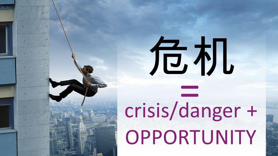 = crisis/danger + OPPORTUNITY