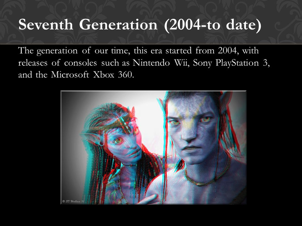 Sixth Generation (1998-2006) One of the most important generations of the modern gaming age, this is the 128 bit era, which gave birth to famous consoles such as, Sony PlayStation 2, Nintendo GameCube and Microsoft Xbox.