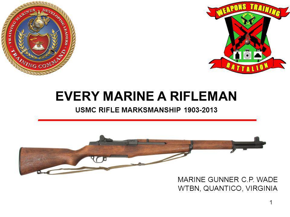 US Marine Corps Service Rifle 12 United States Rifle, Caliber.30, M1.