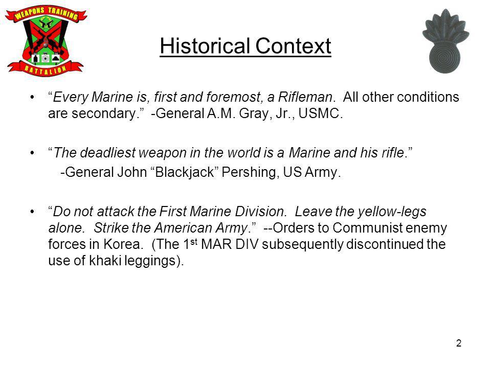 23 US Marine Corps Service Rifle United States Rifle, 5.56mm, M16A2.