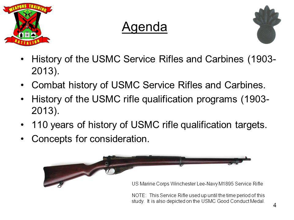 25 US Marine Corps Service Rifle United States Rifle, 5.56mm, M16A2.