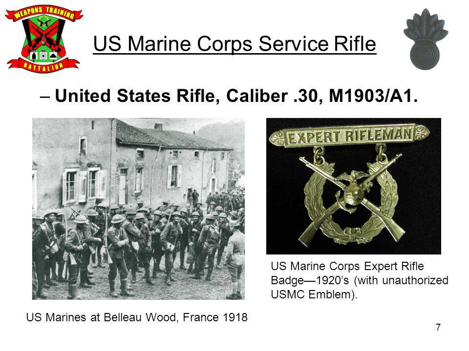 28 US Marine Corps Service Rifle United States Rifle, 5.56mm, M16A4.