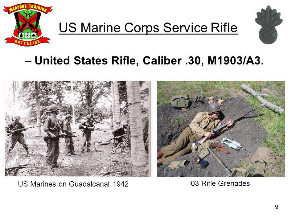 20 US Marine Corps Service Rifle United States Rifle, 7.62mm, M14.
