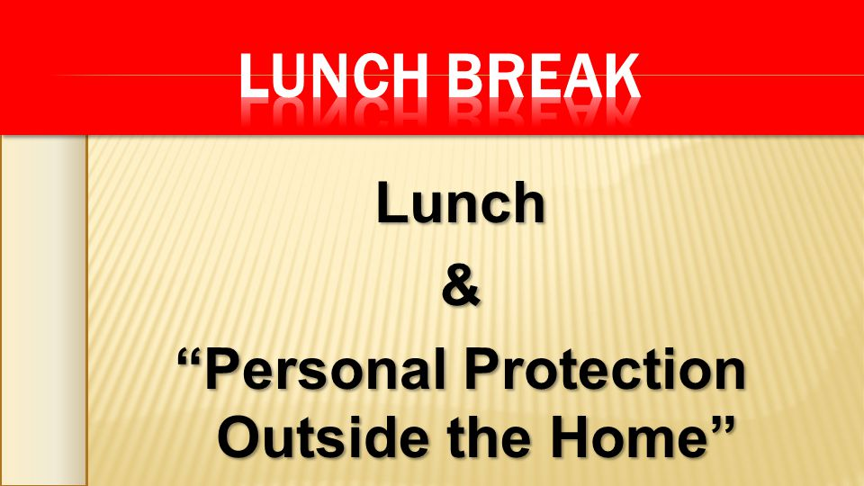 Lunch& Personal Protection Outside the Home DVD DVD