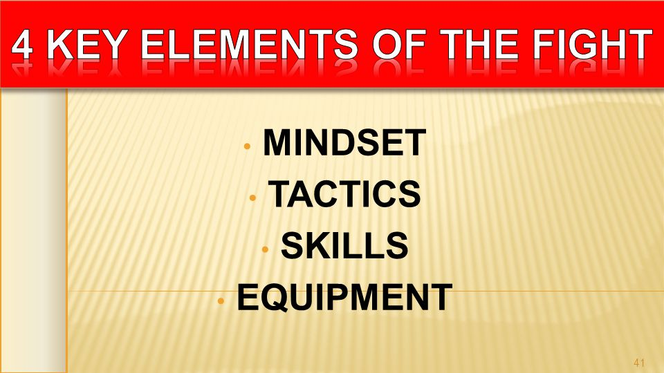MINDSET SKILLS TACTICS EQUIPMENT 41