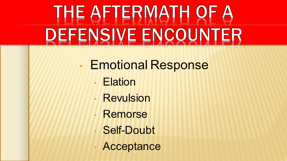 Emotional Response Elation Revulsion Remorse Self-Doubt Acceptance