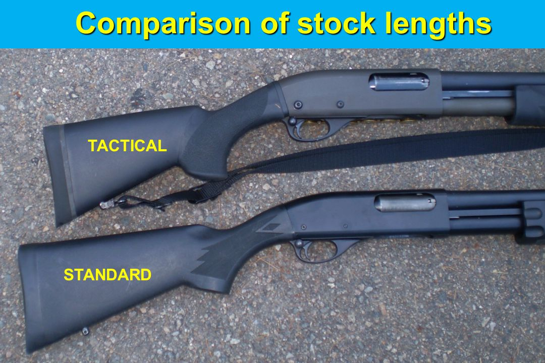Comparison of stock lengths STANDARD TACTICAL