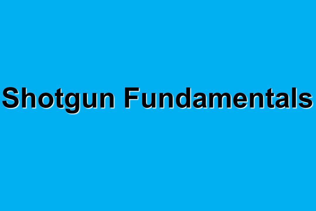 Shotgun Fundamentals