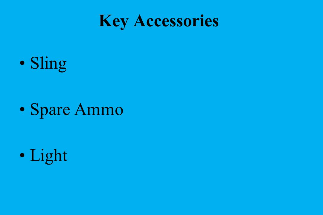 Key Accessories Sling Spare Ammo Light