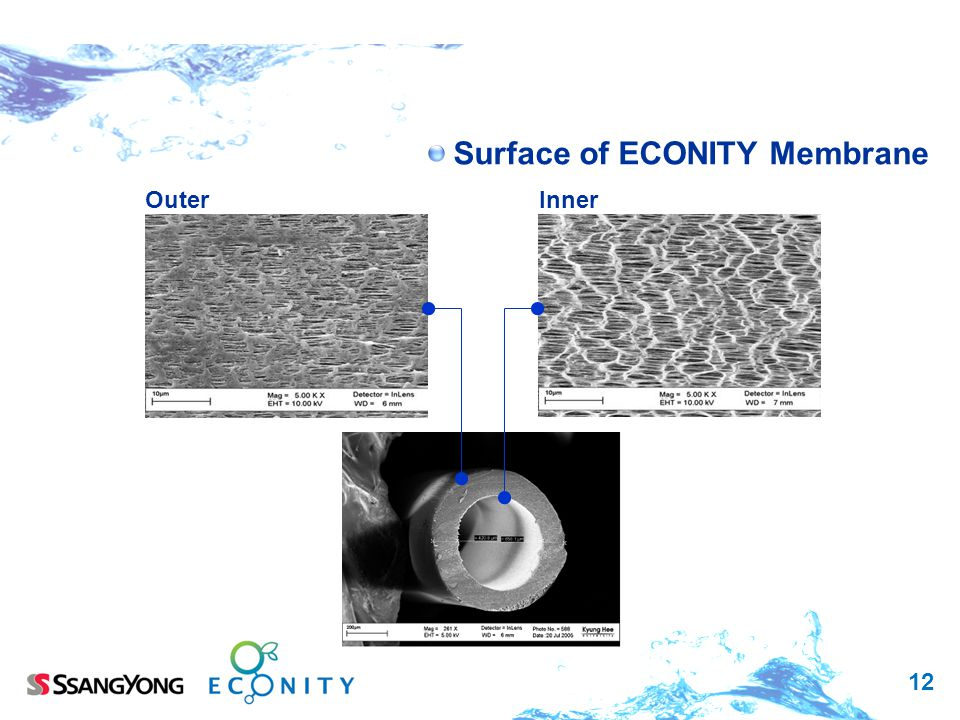 12 Surface of ECONITY Membrane Outer Inner