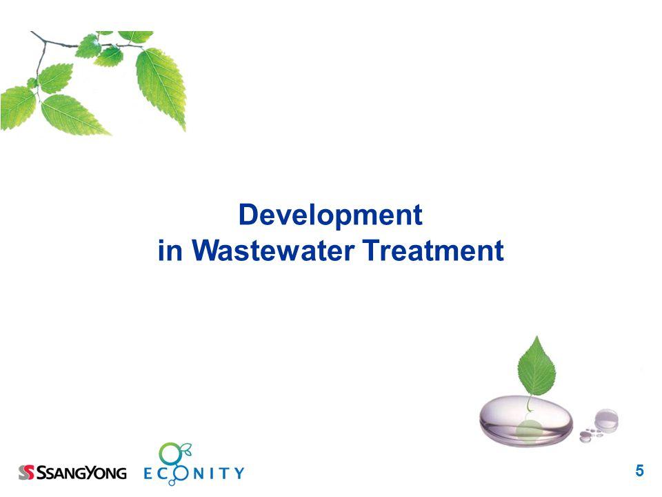 5 Development in Wastewater Treatment
