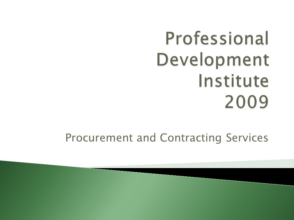 Procurement and Contracting Services