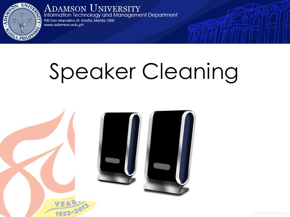 Speaker Cleaning