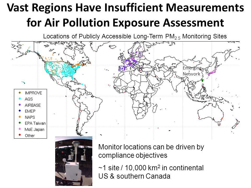 Vast Regions Have Insufficient Measurements for Air Pollution Exposure Assessment Locations of Publicly Accessible Long-Term PM 2.5 Monitoring Sites M