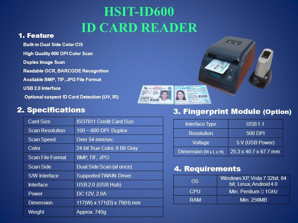 HSIT-ID600 ID CARD READER 1.