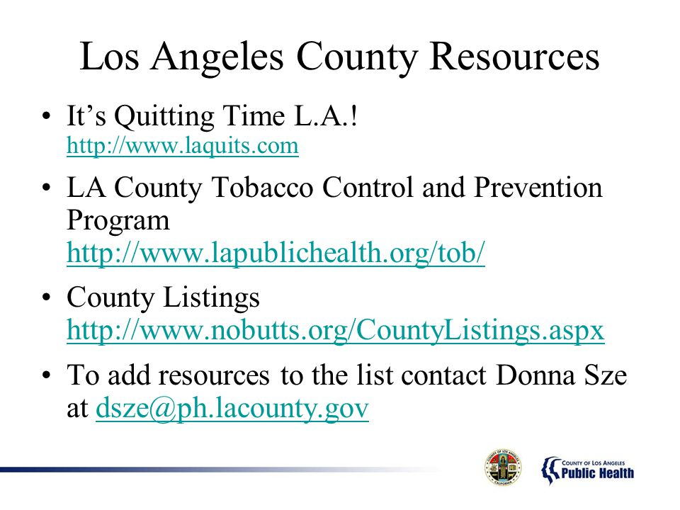 Los Angeles County Resources Its Quitting Time L.A..
