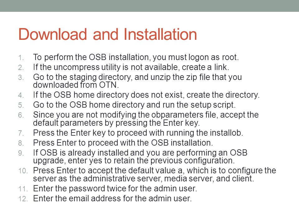 Command-line Access to OSB obtool is the utility that provides command line access to OSB $ obtool $ obtool -u apress_oracle ob> id ob> help topics
