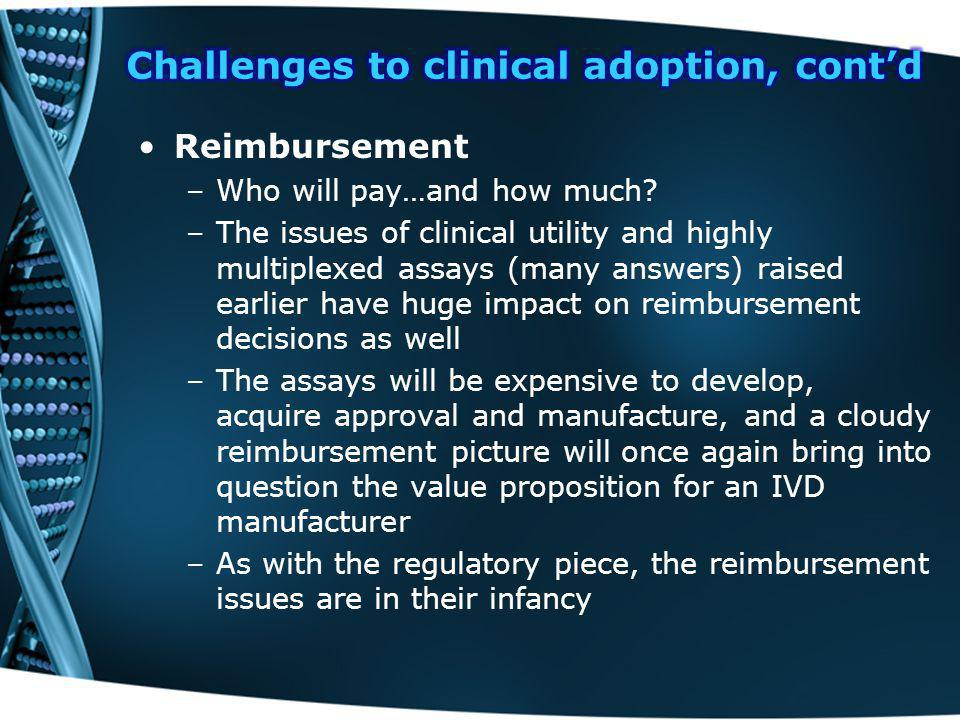 Reimbursement –Who will pay…and how much.