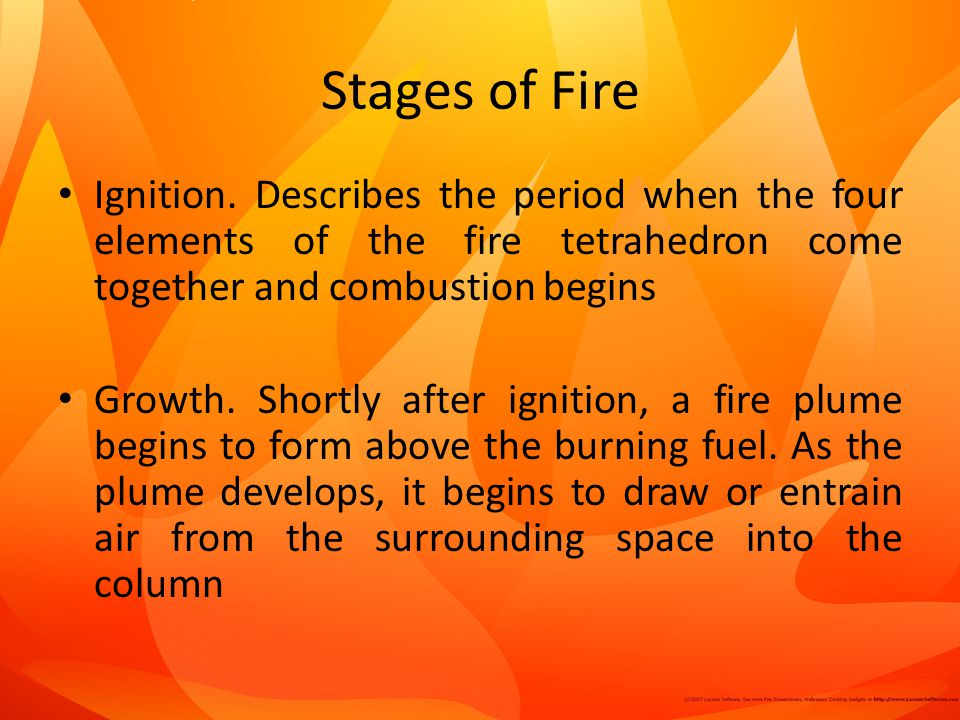 Stages of Fire Ignition.
