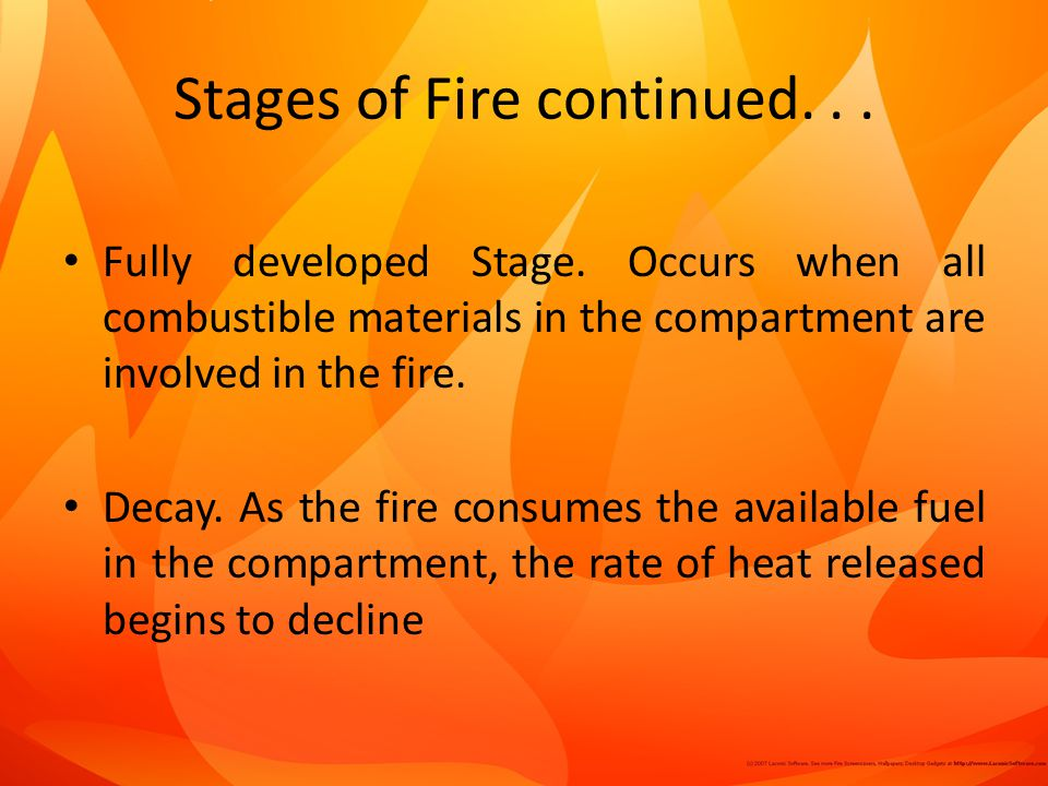 Stages of Fire continued...Fully developed Stage.